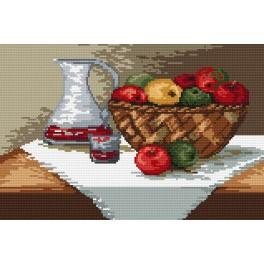 Kanwa z nadrukiem - Koszyk jabłek