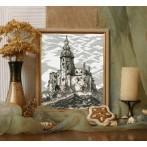 Kanwa z nadrukiem - Zamek w Siewierzu