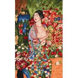 Kanwa z nadrukiem - G. Klimt - Tancerka