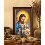 Kanwa z nadrukiem - Jezus z barankiem