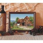 Kanwa z nadrukiem - Wiejski domek