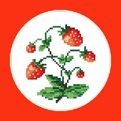 Kanwa z nadrukiem - B.Sikora-Malyjurek - Słodkie truskawki