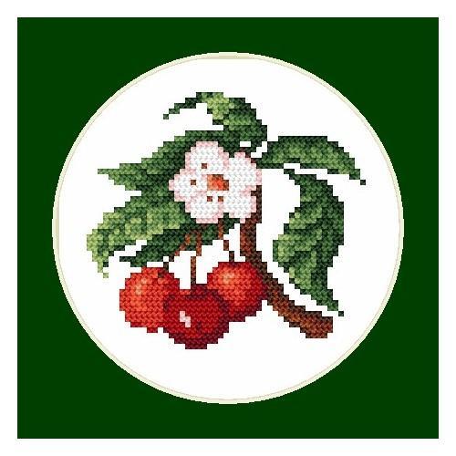 Kanwa z nadrukiem - B.Sikora-Malyjurek - Wyśmienite czereśnie