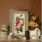 Kanwa z nadrukiem - B.Sikora-Malyjurek - Malownicze róże