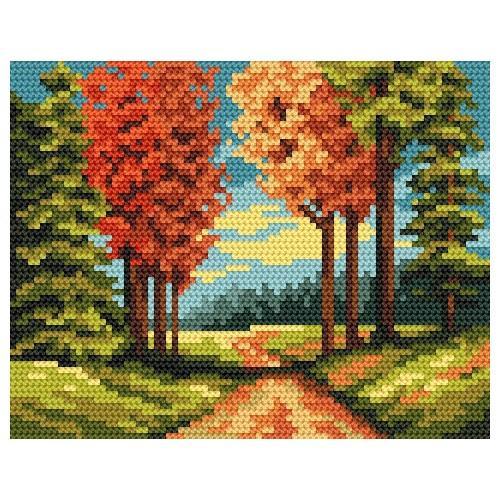 Kanwa z nadrukiem - Jesienna ścieżka