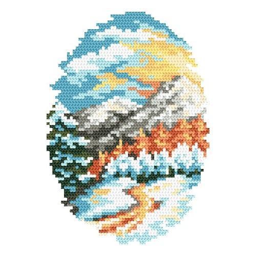 Kanwa z nadrukiem - Zima - B. Sikora-Małyjurek