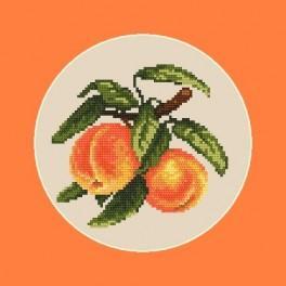 Kanwa z nadrukiem - Soczyste brzoskwinie