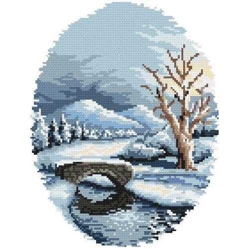 Kanwa z nadrukiem - Zima