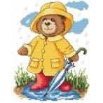 Kanwa z nadrukiem - Letni deszczyk