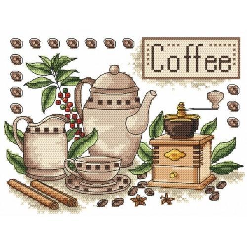 Kanwa z nadrukiem - Kawa