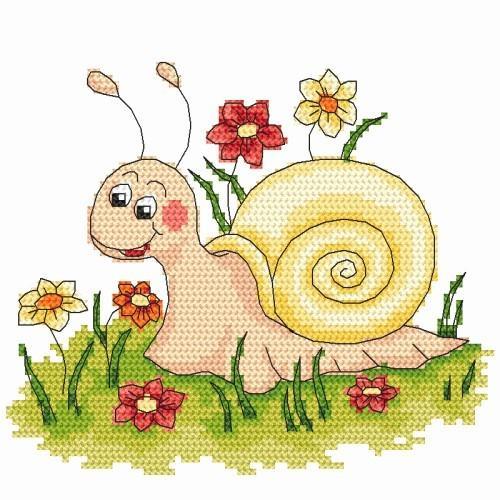 Kanwa z nadrukiem - ślimak
