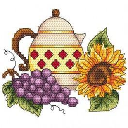 Kanwa z nadrukiem - Dzbanek z winogronem