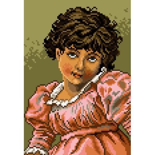 Kanwa z nadrukiem - Dziewczynka