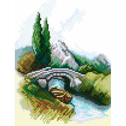 Kanwa z nadrukiem - Most