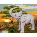 Kanwa z nadrukiem - Słoń