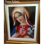 Kanwa z nadrukiem - Niepokalane serce Maryi