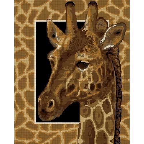 Kanwa z nadrukiem - żyrafa