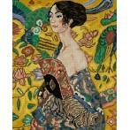 Kanwa z nadrukiem - Dziewczyna z wachlarzem - G.Klimt