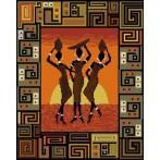 Kanwa z nadrukiem - Afrykański zachód słońca