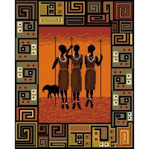 Kanwa z nadrukiem - Afrykańska noc