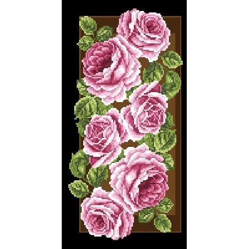 Kanwa z nadrukiem - Róże na panelu