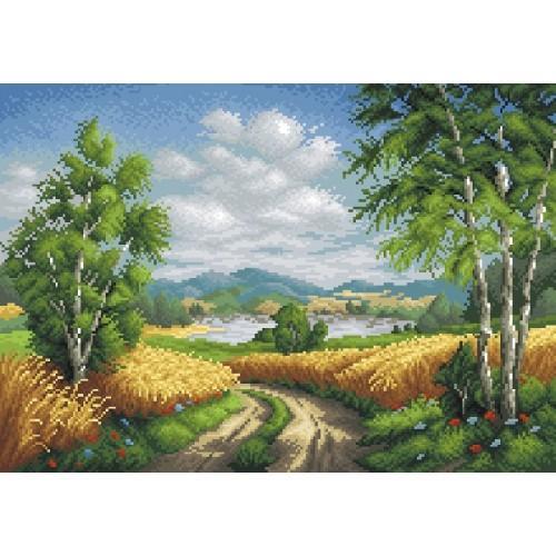 Kanwa z nadrukiem - Wiejska droga