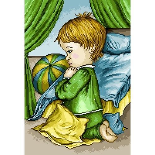 Kanwa z nadrukiem - Modlitwa chłopczyka