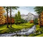 Kanwa z nadrukiem - Górski potok