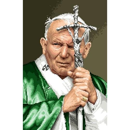 Kanwa z nadrukiem - Papież Jan Paweł II