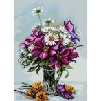 Kanwa z nadrukiem - Kompozycja kwiatowa wg Tomasza Bednarskiego