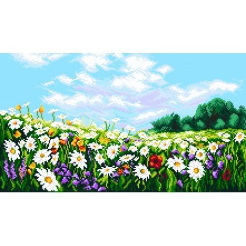 Kanwa z nadrukiem - Kwiecista łąka