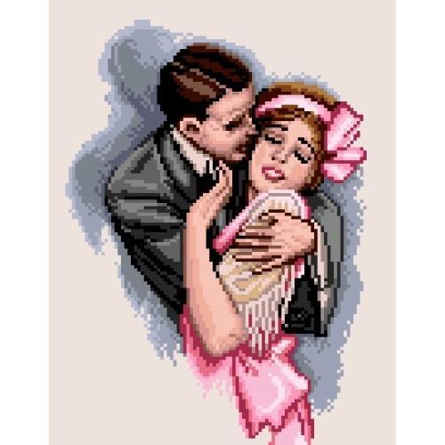 Kanwa z nadrukiem - Pocałunek