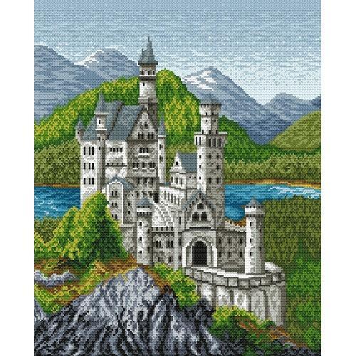 Kanwa z nadrukiem - Zamek bawarski