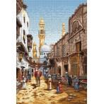 Kanwa z nadrukiem - Ulice Kairu