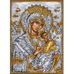Kanwa z nadrukiem - Ikona- Matka Boska z dzieciątkiem