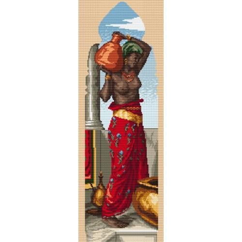 Kanwa z nadrukiem - W. Crane - Tryptyk - Afryka