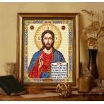 Kanwa z nadrukiem - Ikona - Chrystus Wszechwładca