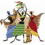 Kanwa z nadrukiem - Afrykańskie kobiety