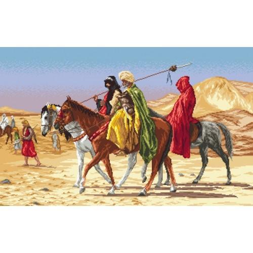 Kanwa z nadrukiem - Arabscy jeźdźcy - Jean-Leon Gerome