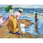 Kanwa z nadrukiem - Odpoczynek na plaży