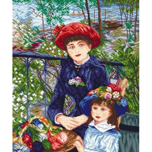 Kanwa z nadrukiem - Dwie siostry - Pierre August Renoir
