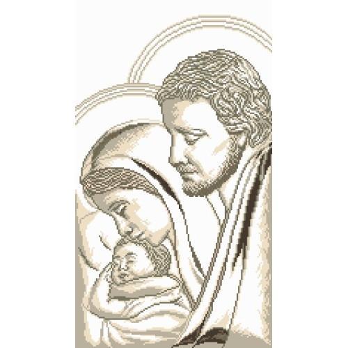 Kanwa z nadrukiem - Józef, Maryja i dzieciątko