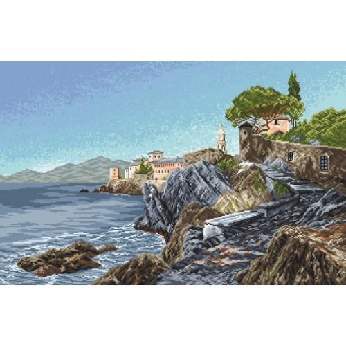 Kanwa z nadrukiem - Skaliste wybrzeże