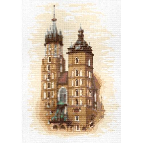 Kanwa z nadrukiem - Kościół Mariacki