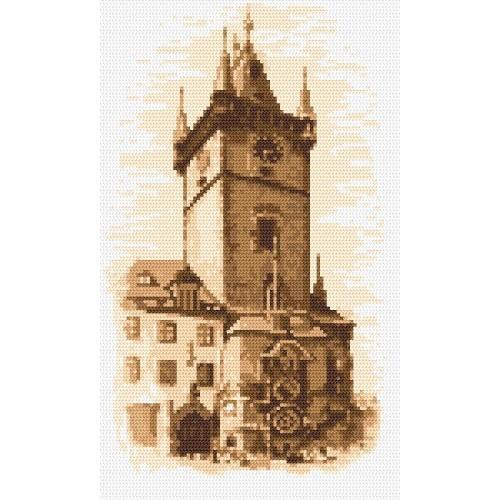 Kanwa z nadrukiem - Ratusz w Pradze