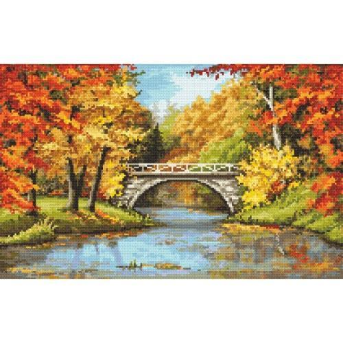 Kanwa z nadrukiem - Złota jesień