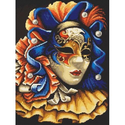 Kanwa z nadrukiem - Tajemnicza maska
