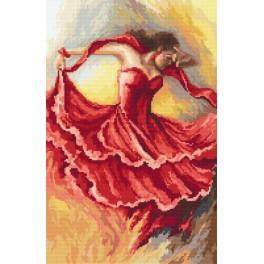 Kanwa z nadrukiem - Taniec żywiołów - ogień