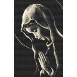 Kanwa z nadrukiem - Maryjka modląca