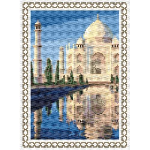 Kanwa z nadrukiem - Wspomnienia z wakacji - Indie